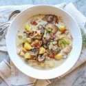 mushroom, fennel and potato chowder