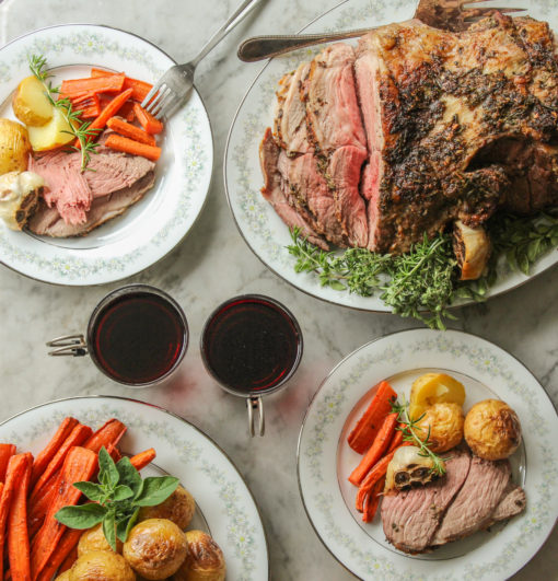 herb crusted leg of lamb
