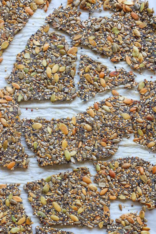 crunchy seed crackers