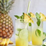 pineapple mint caipirinha