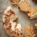 cinnamon apple bundt cake with vanilla bean glaze