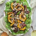 roasted squash and balsamic onion salad