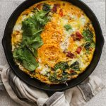 butternut squash and goat cheese frittata