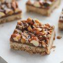 salted caramel nut bars
