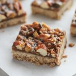 salted caramel nut bars