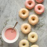 baked vanilla donuts with citrus glaze
